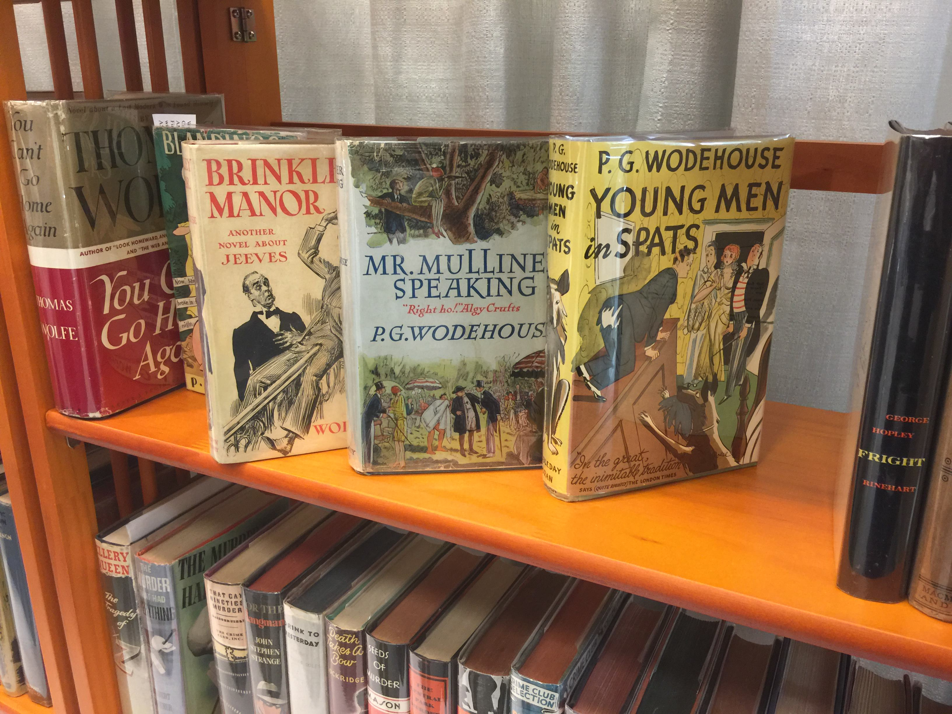P.G. Wodehouse - three American first editions
